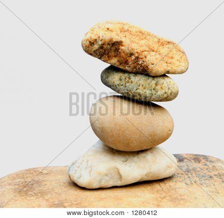 Felsen ausgewogen weiß