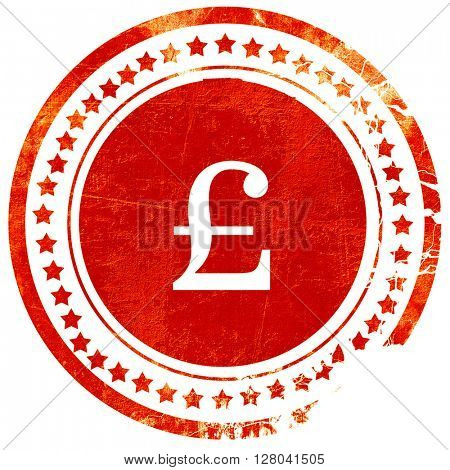 pound sign, grunge red rubber stamp on a solid white background