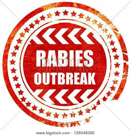 Rabies virus concept background, grunge red rubber stamp on a so