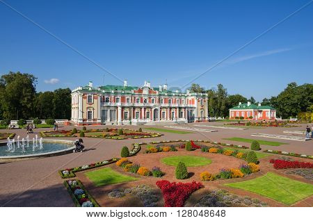Kadriorg Palace was built by Tsar Peter the Great in the 18th Century Tallinn Estonia