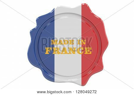 made in France seal stamp. 3D rendering