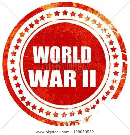 World war 2 background, grunge red rubber stamp on a solid white