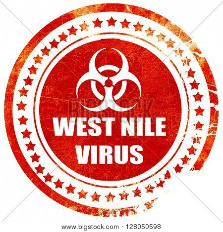 West nile virus concept background, grunge red rubber stamp on a