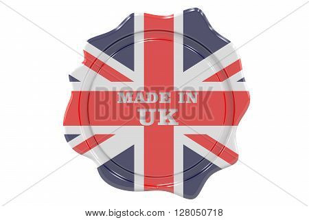 made in United Kingdom seal stamp. 3D rendering