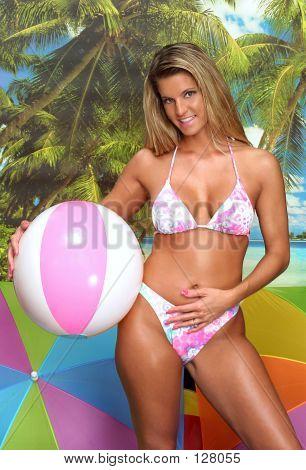 Gal With Beach Ball
