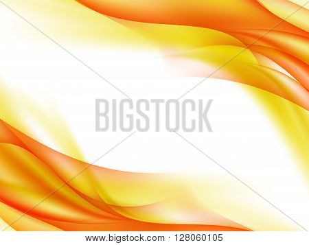 Abstract background with yellow, red and orange lines in the corners, vector illustration