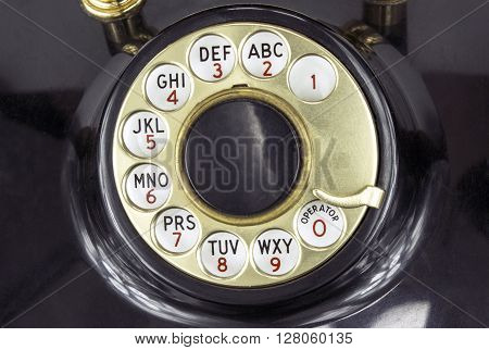 The Dial of a Rotary Dial Phone