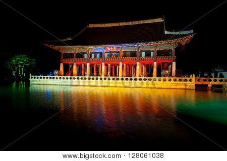 Gyeonghoeru Royal Banquet Hall At Night - Gyeongbokgung Palace, Seoul, South Korea