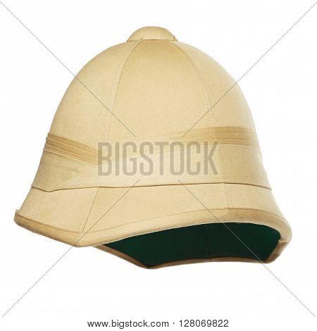 photo of safari hat isolated on white background