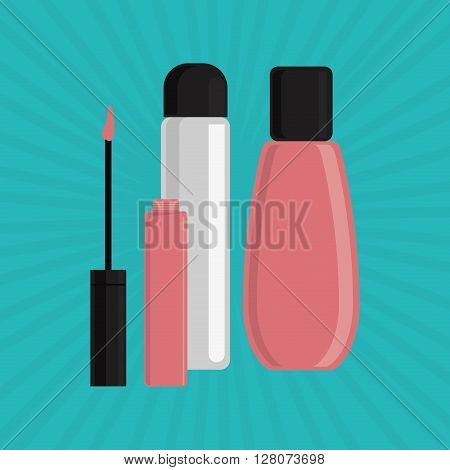 Make up concept with icon design, vector illustration 10 eps graphic.