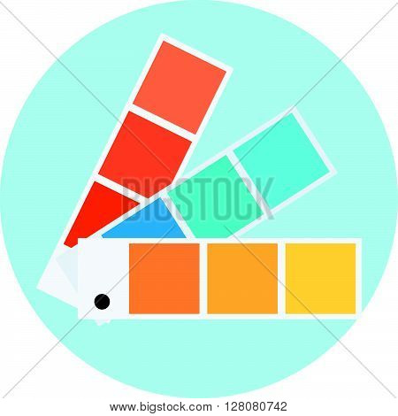 Color Swatch Theme, Flat Style, Colorful, Vector Icon
