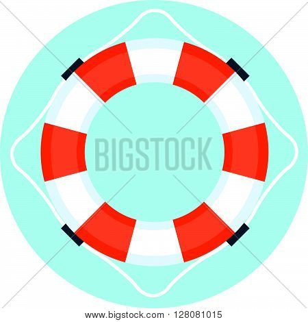 Security Service, Life Buoy Flat Style, Colorful, Vector Icon
