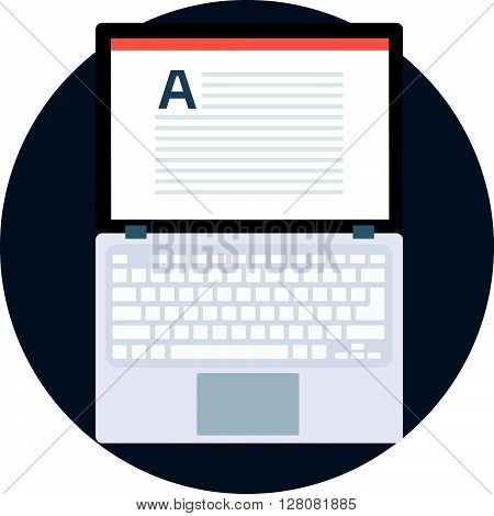 Copywrighter Flat Style, Colorful, Vector Icon