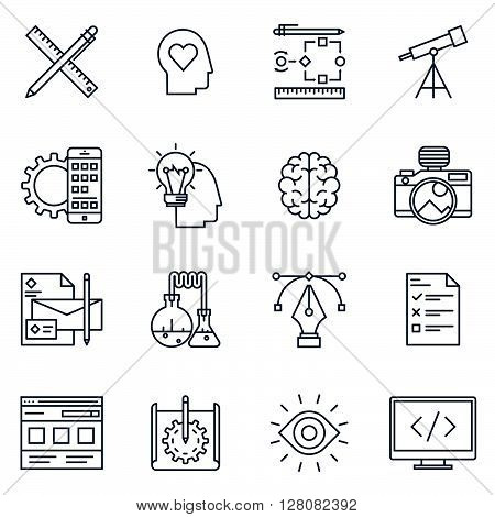 Design And  Development Icon Set