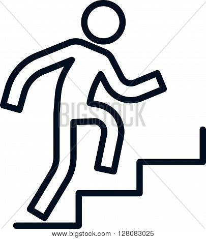 Man Climbing Up Stairs Icon