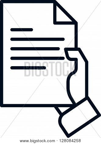 Hand Holding A Document Icon