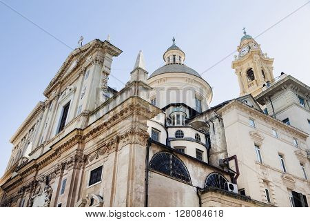 Church of Jesus (Chiesa del Gesu) in Genoa. Genoa Liguria Italy