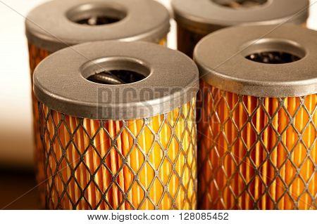 close up photo of colorful orange car filter