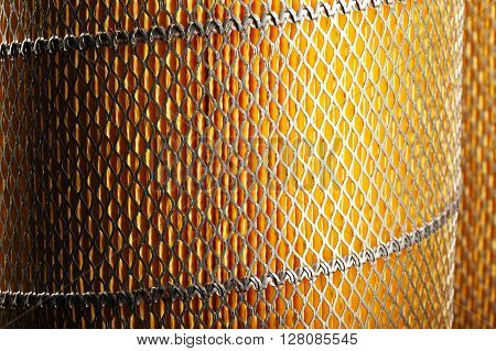 close up photo of colorful orange car filter