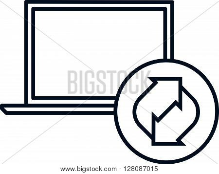 Recycling Computer Icon