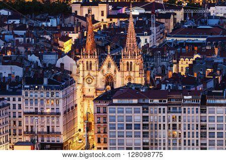 Church of Saint Nizier in Lyon. Lyon Rhone-Alpes France.