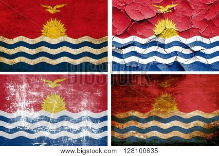 Kiribati flag collection. 4 different flags on white background