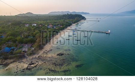 aerial view of payam island ranong andaman sea southern of thailand