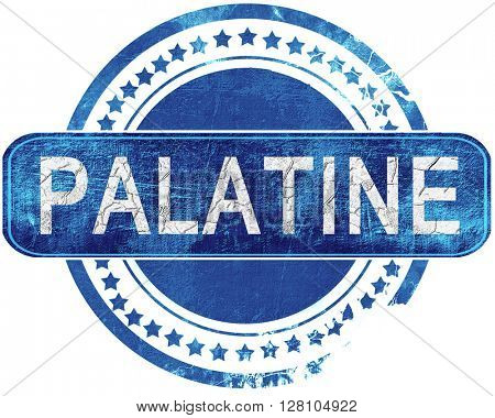 palatine grunge blue stamp. Isolated on white.