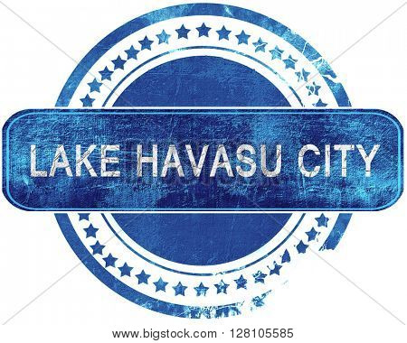 lake havasu city grunge blue stamp. Isolated on white.