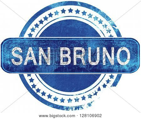 san bruno grunge blue stamp. Isolated on white.