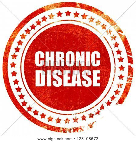 chronic disease, red grunge stamp on solid background
