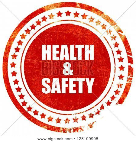 health , red grunge stamp on solid background