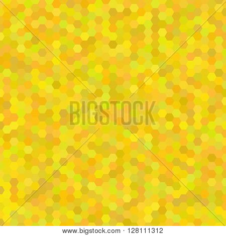 Yellow abstract mosaic - vector background. Yellow  colored hexagon pattern background.