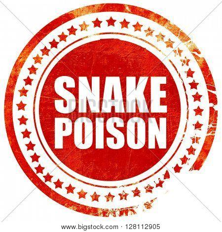 snake poison, red grunge stamp on solid background