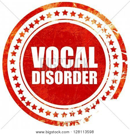 vocal disorder, red grunge stamp on solid background