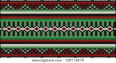 Retro Bedouin Style Sadu Weaving Illustrated Background
