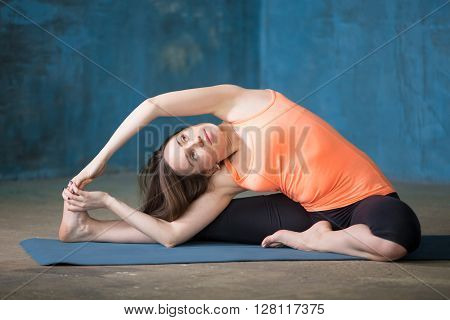 Revolved Head-to-knee Forward Bend Pose
