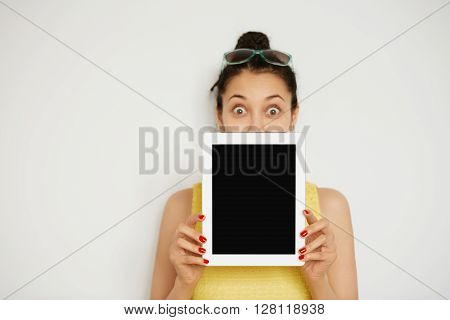 Selective Focus. Close Up View Of Digital Tablet With Copy Space For Your Text Or Advertisement. Cro