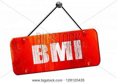 bmi, 3D rendering, vintage old red sign