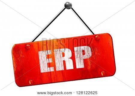 erp, 3D rendering, vintage old red sign