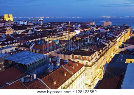 Architecture of Lisbon - aerial view. Lisbon Portugal.