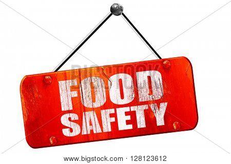 food safety, 3D rendering, vintage old red sign