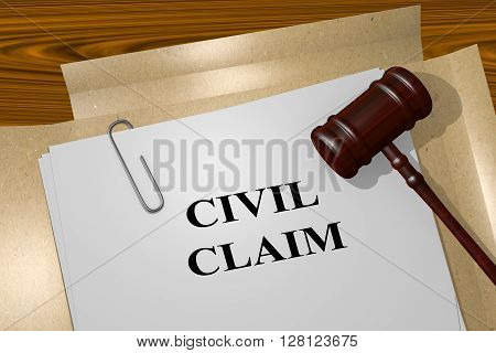 Civil Claim Legal Concept