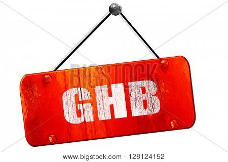 ghb, 3D rendering, vintage old red sign