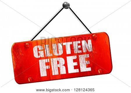 gluten free, 3D rendering, vintage old red sign