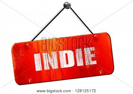 indie, 3D rendering, vintage old red sign