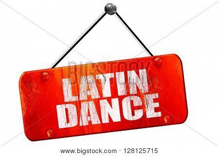 latin dance, 3D rendering, vintage old red sign