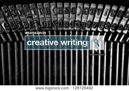 Web search bar glossary term - creative writing definition in internet glossary.
