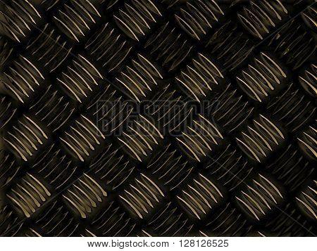 Black Steel Diamond Plate Background Sepia