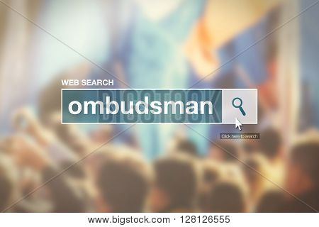Web search bar glossary term - ombudsman definition in internet glossary.